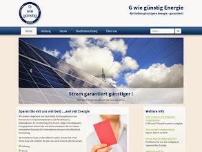 Photo: Referenz Webdesign: G wie günstig Energie (HTML5/CSS3, responsive Design, WordPress)