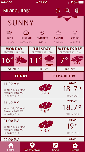 Screenshot for Weather Report Local Weather Forecast Weather Pro in United States Play Store