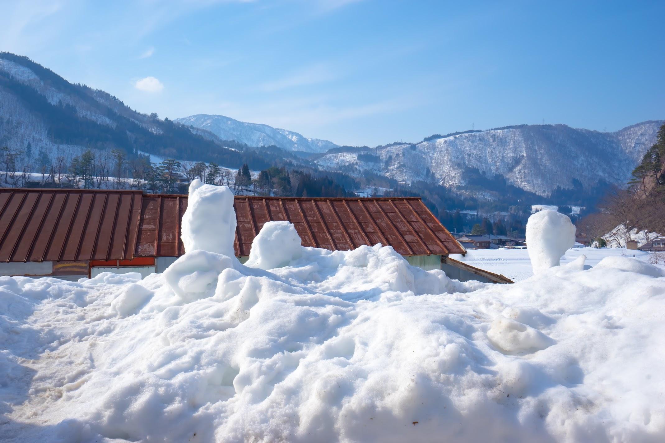 Shirakawa-go snow3