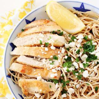 Lemon Feta Chicken Spaghetti
