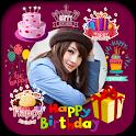 Happy Birthday Gif Photo Editor 2020 icon