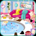 Limpiando el salón de spa icon