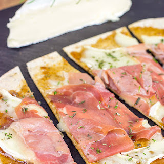 Brie and Fig Jam Flatbreads