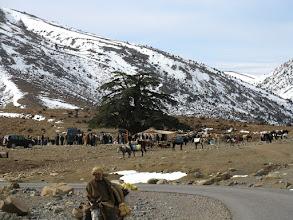 Photo: The Atlas markets; rural market place in the open air