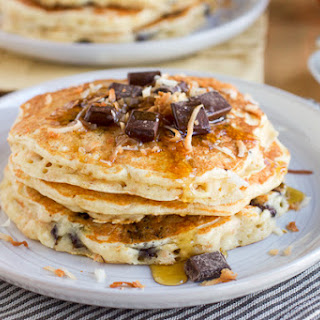 Toasted Coconut Chocolate Chunk Pancakes