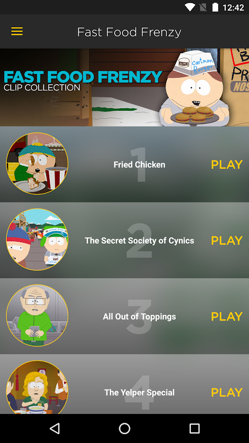 The Official South Park App- screenshot