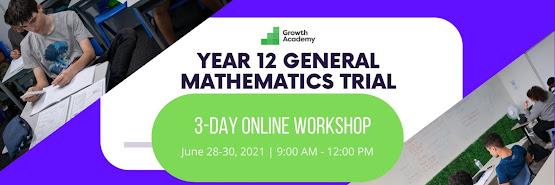 Year 12 General Mathematics Trial Preparation Workshop (3 day online workshop)