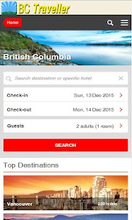BC Traveller Guide with Hotels- screenshot thumbnail