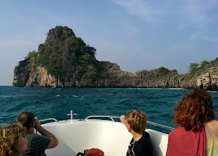 Photo: After a 45-minute ride, the speedboat approaches Koh Haa.