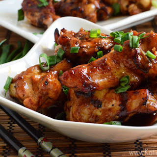 Sweet and Spicy Asian Sticky Wings.