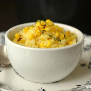 Roasted Corn and Saffron Risotto