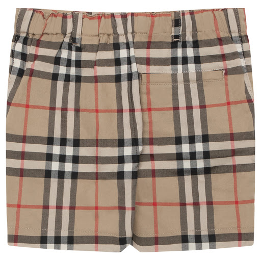Thumbnail images of Burberry Baby Checked Shorts