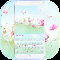 Pink Flowers Keyboard Theme APK