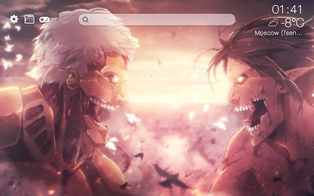 Attack on titan HD new free tab theme