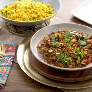 North African Beef Tagine with Zucchini & Almond-Herb Couscous.