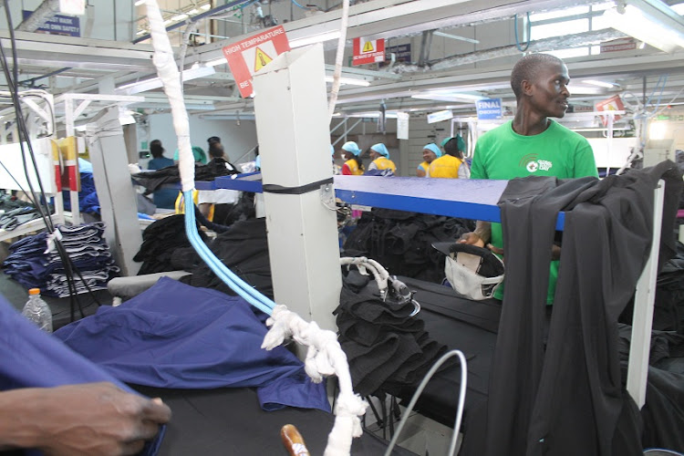 Royal Garments EPZ Ltd employees at work in Export Processing Zone Authority, Athi River