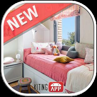 Dívčí design ložnice - náhled