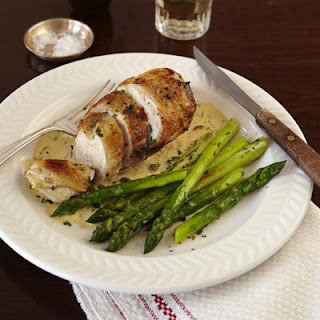 Chicken with Capers, Mustard, and Parsley.
