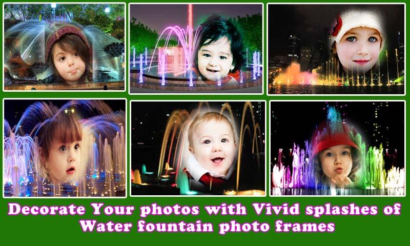 Water Fountain Frame Photo- screenshot