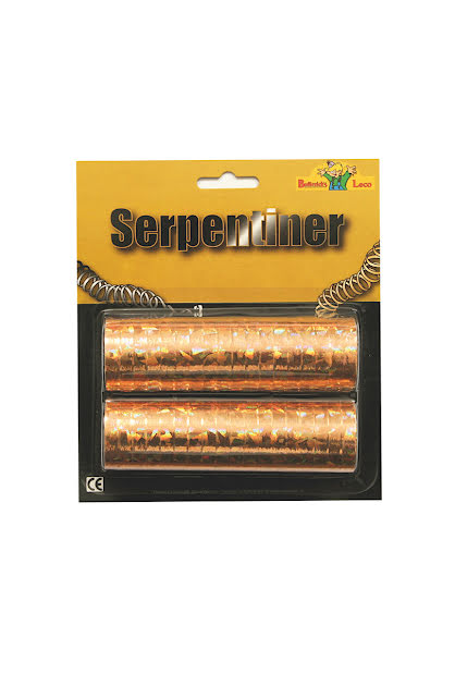 Guldlazer serpentin, 2-pack