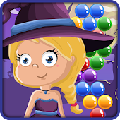 Bubble Shooter - Witch on the Halloween