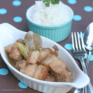 Pork Adobo sa Gata {Pork Adobo with Coconut Milk}