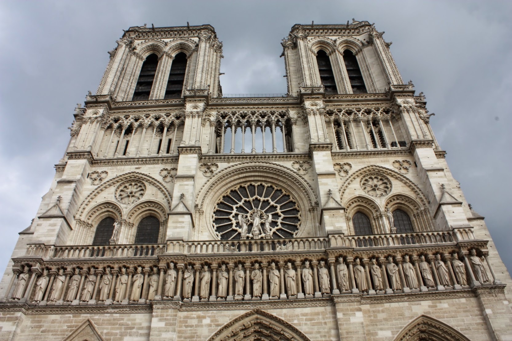 Beautiful entrance to Notre Dame