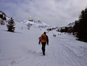 Photo: Uscendo dal bosco di abeti,il panorama si fa più ampio.Davanti a noi da SX il M.Campione 2174m.-e M.Campioncino 2102m.