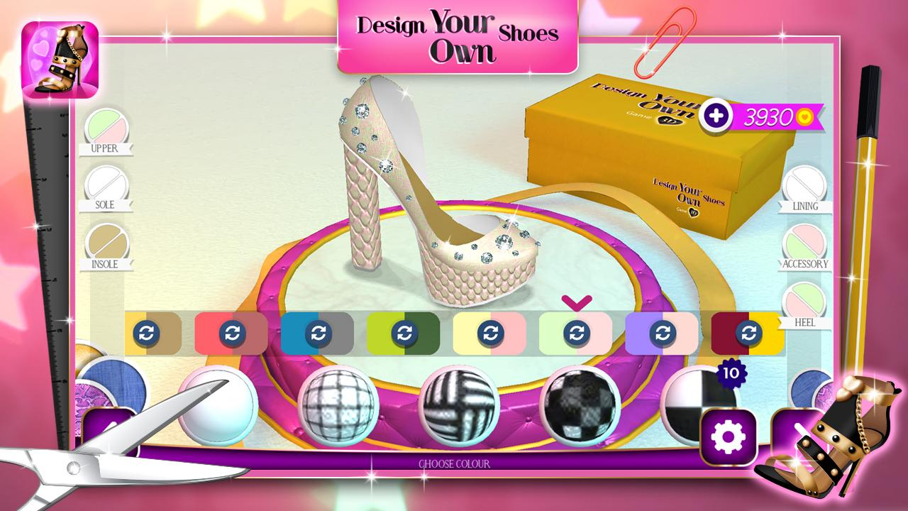 Poster design your own - Design Your Own Shoes Game 3d Screenshot