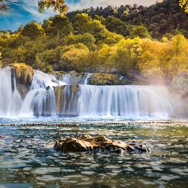 Slapovi Krke by Dado Barić - Landscapes Waterscapes