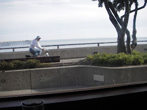 Photo: Picture taken from inside Aloha Steakhouse on the Ventura Promenade with ocean views.
