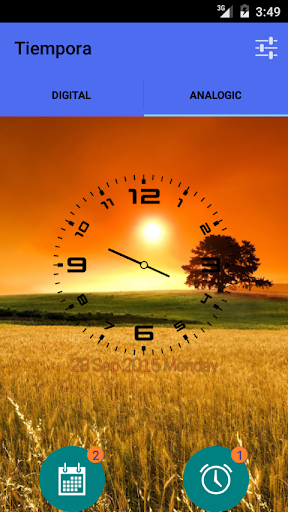 Tiempora Lite alarm calendar