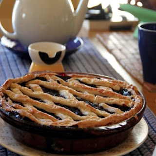 Blueberry Pie with Ricotta Cream