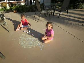 Photo: Chalk everywhere