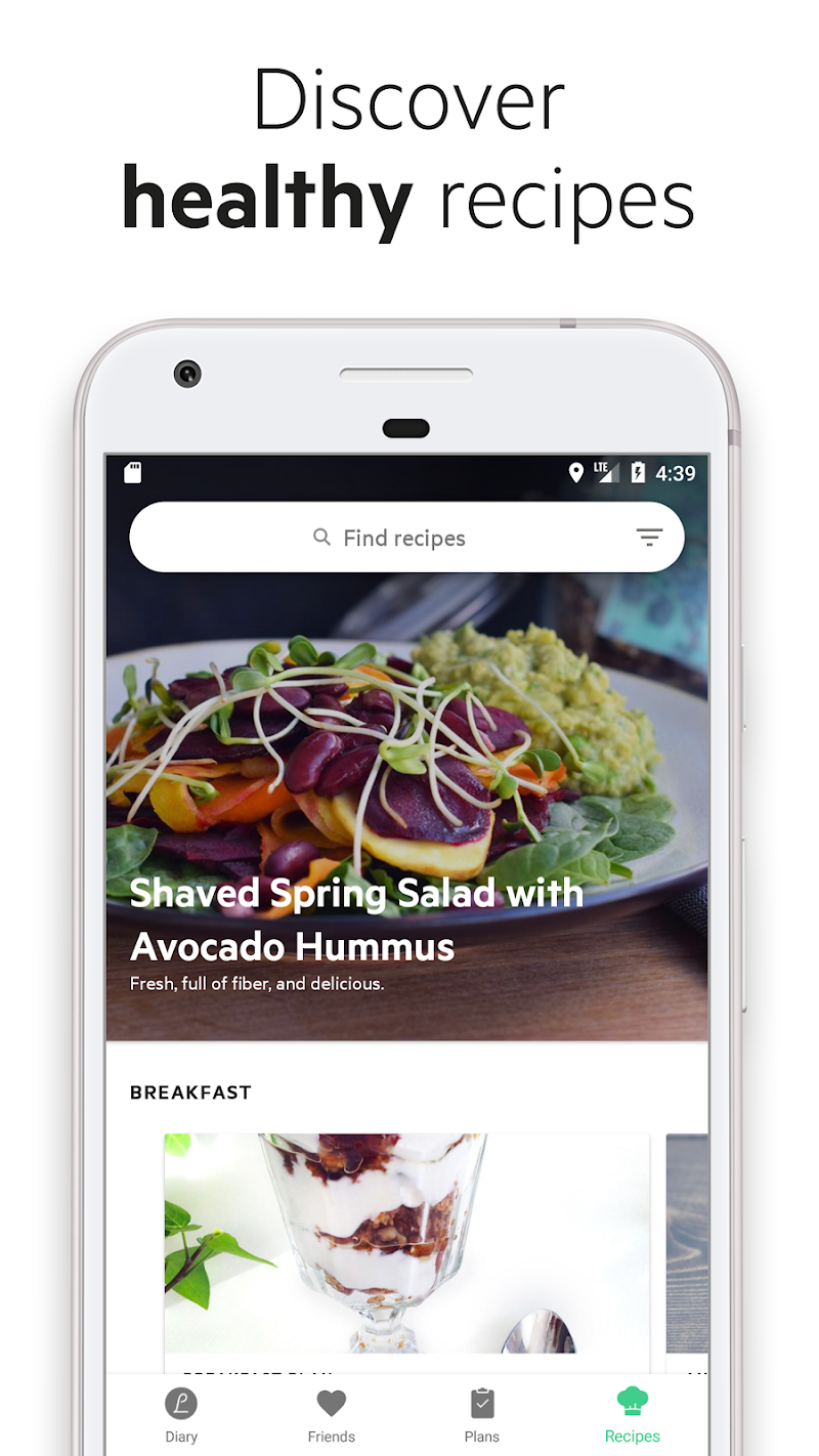 Lifesum - Diet Plan, Calorie Counter & Food Diary Screenshot 3