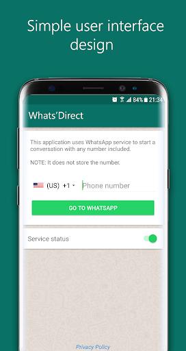 Direct Chat for WhatsApp 1.1.3 screenshots 1