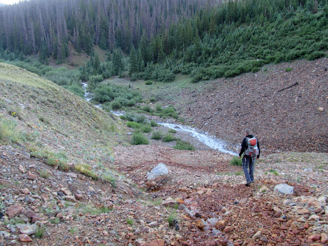 Off-trail heading toward the South Fork of Silver Creek