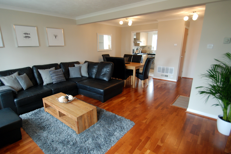 Living area at Weybridge apartment