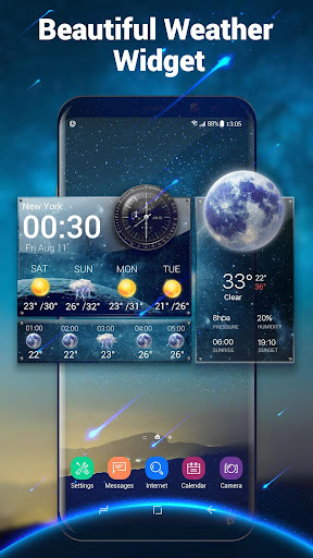 Daily & Hourly Weather Clock Widget  screenshots 2