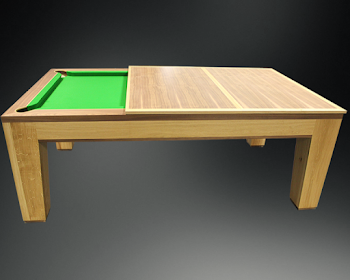 the spartan dining table being converted into a pool table
