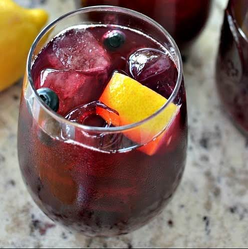 An Easy Four Ingredient Fresh Blueberry Lemonade Recipe.  This Refreshment Is The Perfect Beverage For All Your Spring And Summer Needs.