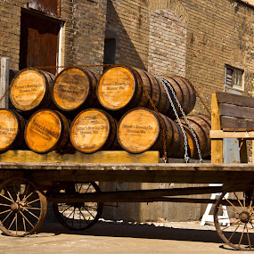 Retro wagon by Reva Fuhrman - Transportation Other ( vintage wagon old factory rusty wheels vintage scene,  )
