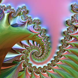 by Cassy 67 - Illustration Abstract & Patterns ( iridescent, swirl, digital art, fractal, fractals, digital )