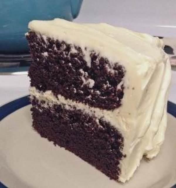 Moist Chocolate Cake.  For Buttercream Icing Recipe Go Here: Http://www.thelittleblondebaker.com/moist-chocolate-cake/