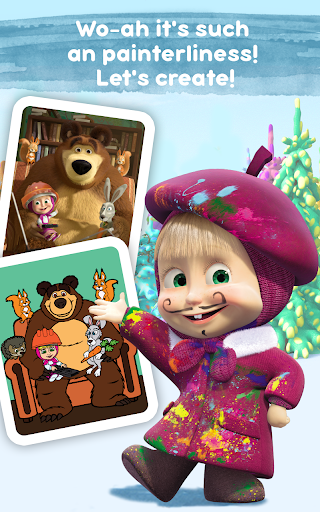 Masha and the Bear: Free Coloring Pages for Kids 1.0.3 screenshots 19
