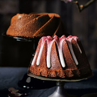 Salted Coconut And Raspberry Bundt Cake.