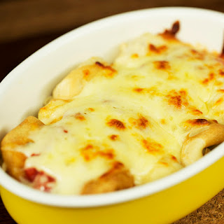 Oven-Baked Crepes with Turkey and Mozzarella