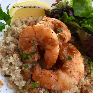 Lemon-Garlic Jumbo Shrimp.