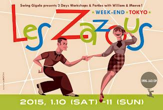 "Photo: design work for ""Les Zazous Week-end Tokyo 2015""."
