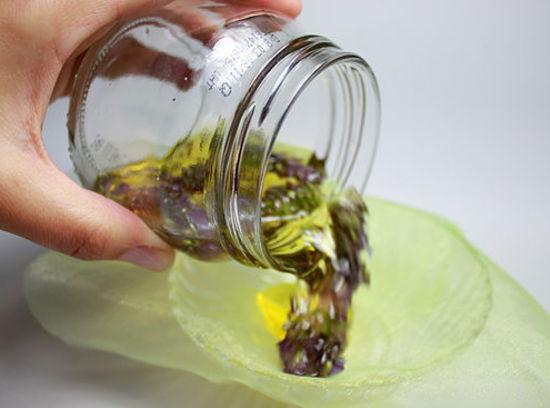Depends on how much making.Fill clean jars with lavender flowers.Warm oil in microwave for...